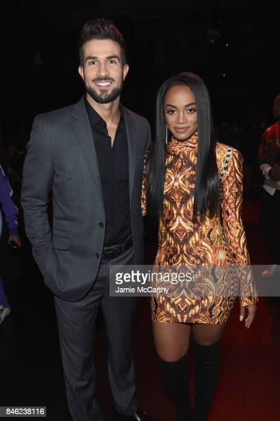 Bryan Abasolo and Rachel Lindsay attend the runway for The Blonds fashion show during New York Fashion Week The Shows at Gallery 1 Skylight Clarkson...