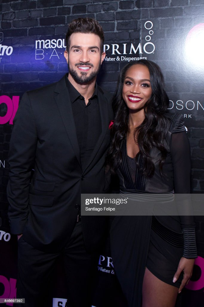 Bryan Abasolo and Rachel Lindsay of 'The Bachelorette' attend OK! Magazine's Fall Fashion Week 2017 Event at Hudson Hotel on September 13, 2017 in New York City.