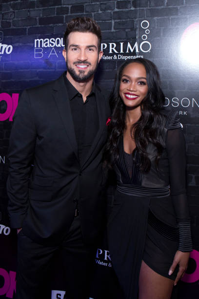 Bryan Abasolo And Rachel Lindsay Of The Bachelorette Attend OK Magazines Fall Fashion