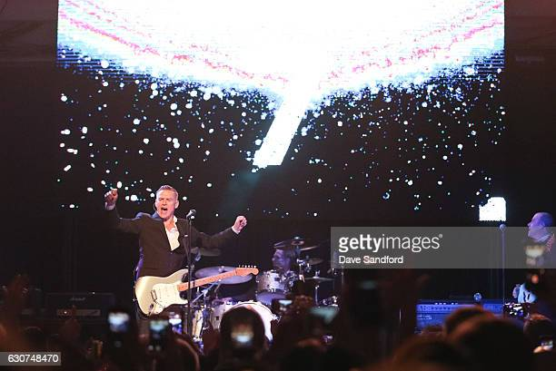 Bryan Adam counts down to the new year during the NHL Centennial Classic New Year's Eve Celebration at Muzik Event Center on December 31 2016 in...