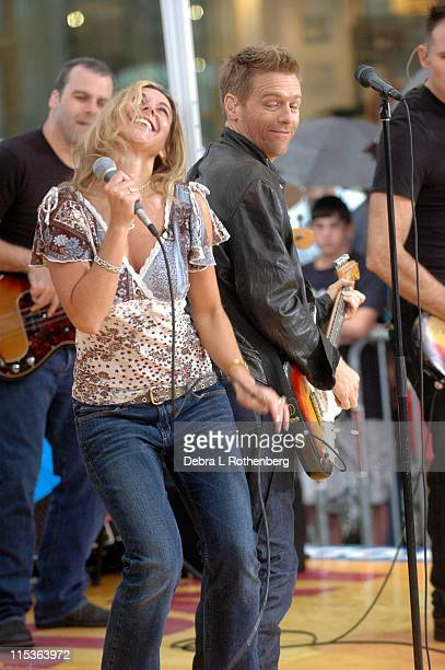 Bryan Adams and a fan during The 'Today' Show's 2004 Summer Concert Series Bryan Adams at Rockefeller Plaza in New York City New York United States