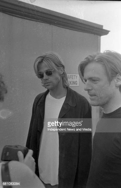 Bryan Adams and Brad Pitt after the concert at The Point Depot Dublin