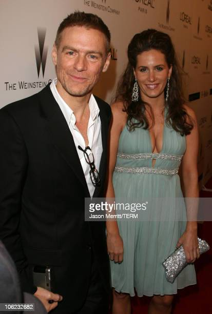 Bryan Adams and guest during The Weinstein Co Golden Globe After Party at The Beverly Hilton Hotel in Beverly Hills California United States