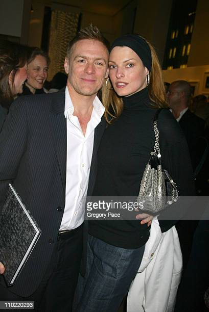 Bryan Adams and Linda Evangelista during Calvin Klein Inc and Bryan Adams Host the Launch of His New Photography Book 'American Women' Inside the...