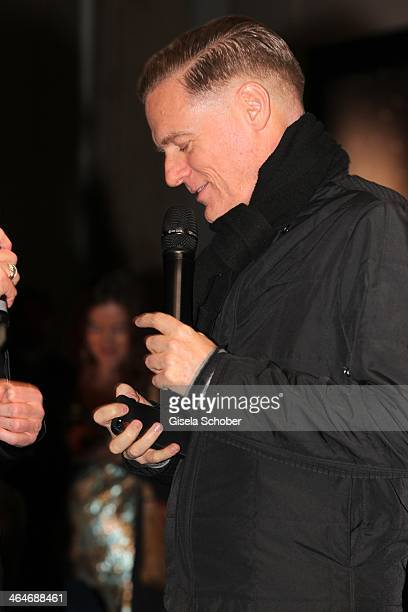 MUNICH GERMANY JANUARY Bryan Adams attends the presentation and vernissage of his calender for Opel 'THE ADAM BY BRYAN ADAMS' at Haus der Kunst on...