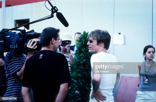 Bryan Adams doing backstage a TV interview Rock Werchter Festival Werchter Belgium