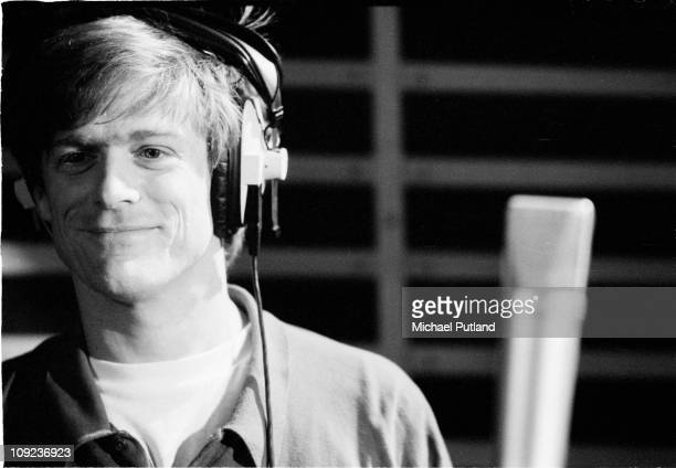 Bryan Adams during recording for Armenian earthquake appeal London 1989
