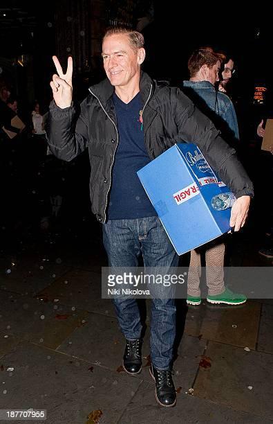 Bryan Adams is sighted leaving the National Portrait Gallery Trafalgar Sq on November 11 2013 in London England