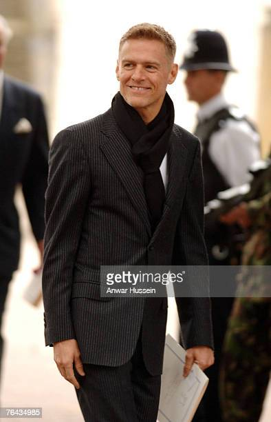 Bryan Adams leaves the 10th anniversary memorial service for Diana, Princess Of Wales held at the Guards Chapel on August 31, 2007 in London,...