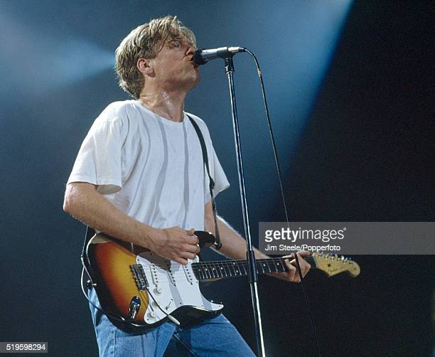 Bryan Adams performing on stage at the Wembley Arena in London on the 6th November 1991