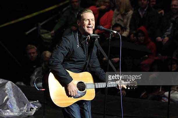 Bryan Adams performs at Hoping For Palestine at The Open Theatre Regents Park on July 8 2012 in London England