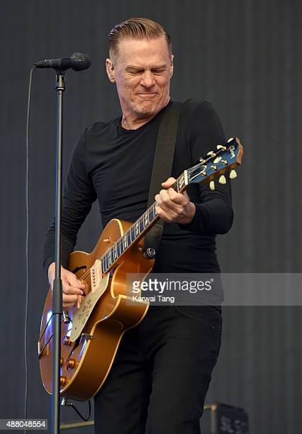 Bryan Adams performs at the BBC Radio 2 Live In Hyde Park Concert at Hyde Park on September 13, 2015 in London, England.
