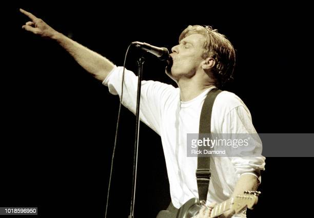 Bryan Adams performs at The Omni Coliseum April 10, 1992 in Atlanta, Georgia.