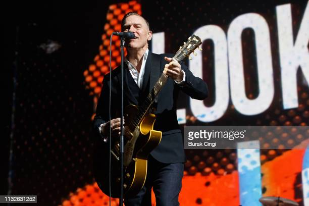 Bryan Adams performs at The SSE Wembley Arena on February 27, 2019 in London, England.
