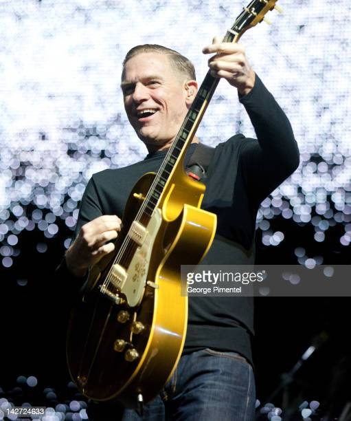 Bryan Adams performs in concert for his tour opener at Mile One Centre on April 11 2012 in Saint John's Canada