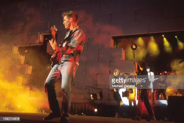 Bryan Adams performs on stage at The Wall Concert Berlin 20th July 1990.