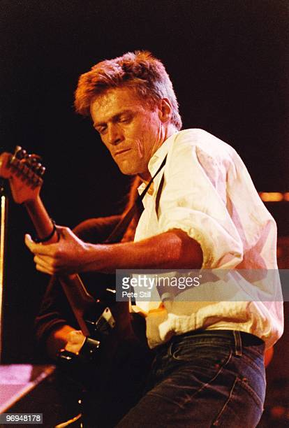 Bryan Adams performs on stage at Wembley Arena at 'The Princes Trust' concert on June 6th 1987 in London England