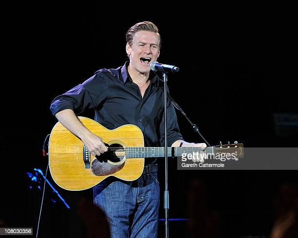 Bryan Adams performs onstage during 'A Concert For Killing Cancer' at Hammersmith Apollo on January 13, 2011 in London, England.