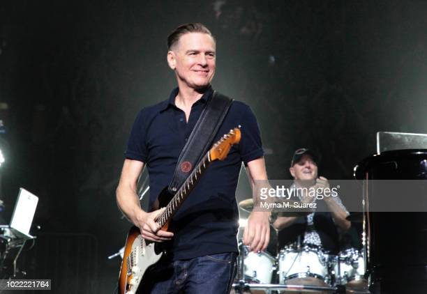 Bryan Adams performs onstage during the 55th consecutive show of Billy Joel's residency at Madison Square Garden on August 23 2018 in New York City