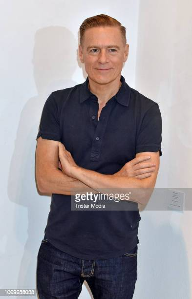 Bryan Adams poses during a photo call prior to the opening of his exhibition 'Exposed' at Camera Works on December 7, 2018 in Berlin, Germany. The...