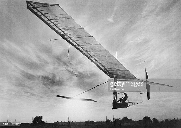 Bryan Allen flies the pedalpowered Gossamer Condor aircraft during a competition at Shafter Airport The Gossamer Condor designed by Dr Paul MacCready...