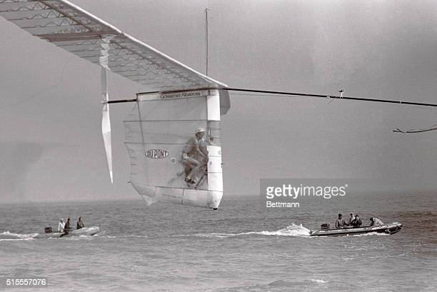 Bryan Allen Pedals the Gossamer Albatross last June 12 in his historic manpowered flight across the English Channel Is it the bicycle of the future...