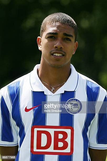 Bryan Arguez poses during the Hertha BSC Berlin Team Presentation on July 7 2009 in Berlin Germany