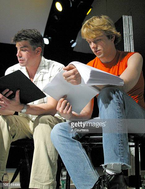 Bryan Batt and Andersen Gabrych during Reading of the Screenplay Adam and Steve at Primary Stages in New York City New York United States
