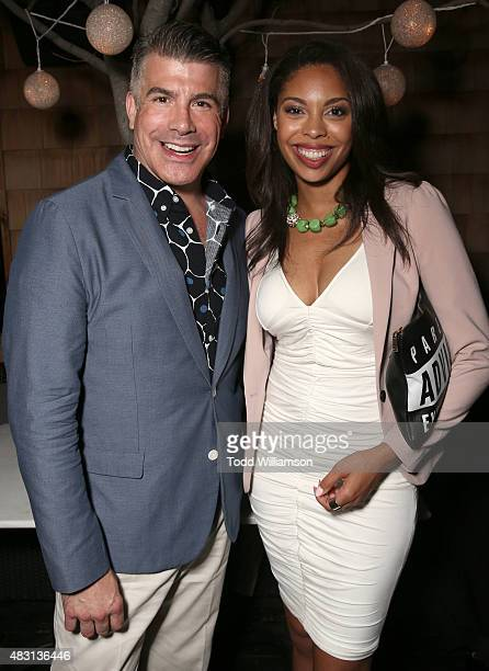 Bryan Batt and Ciera Payton attend the after party for Alchemy's Los Angeles Premiere Of The Runner at Wood and Vine on August 5 2015 in Hollywood...