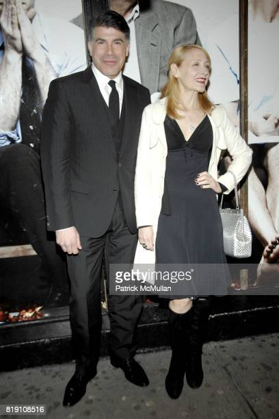 Bryan Batt and Patricia Clarkson attend NEXT FALL Opening Night Arrivals at Helen Hayes Theatre on March 11 2010 in New York City