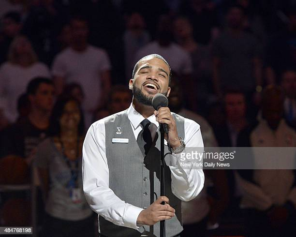 Bryan Bautista ushered in the season's final Nets home game with an impressive unational anthem and rousing applause Bautista a Barclays center usher...