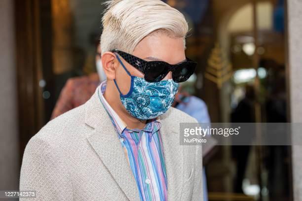 Bryan Boy attends the Etro fashion show during Milan Digital Fashion Week on July 15 2020 in Milan Italy