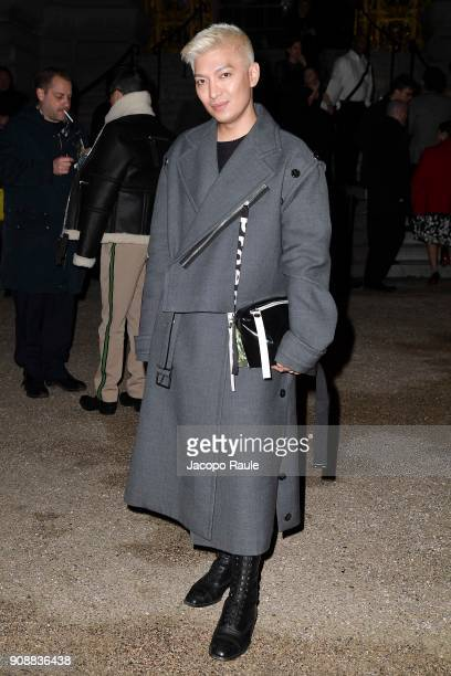 Bryan Boy is seen arriving at Giambattista Valli show during Paris Fashion Week Haute Couture Spring/Summer 2018 on January 22 2018 in Paris France