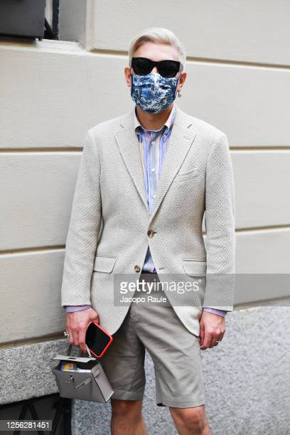 Bryan Boy is seen arriving at the Four Season Hotel ahead of the Etro Fashion Show on July 15 2020 in Milan Italy
