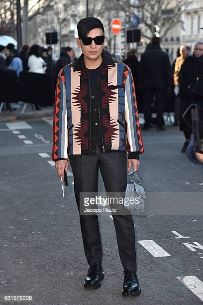 Bryan Boy is seen arriving at Valentino Fashion Show during the Paris Fashion Week Menswear Fall/Winter 2017/2018 on January 18 2017 in Paris France