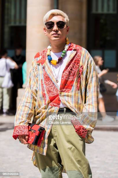Bryan Boy is seen in the streets of Paris after the Louis Vuitton show during Paris Men's Fashion Week Spring/Summer 2019 on June 21 2018 in Paris...