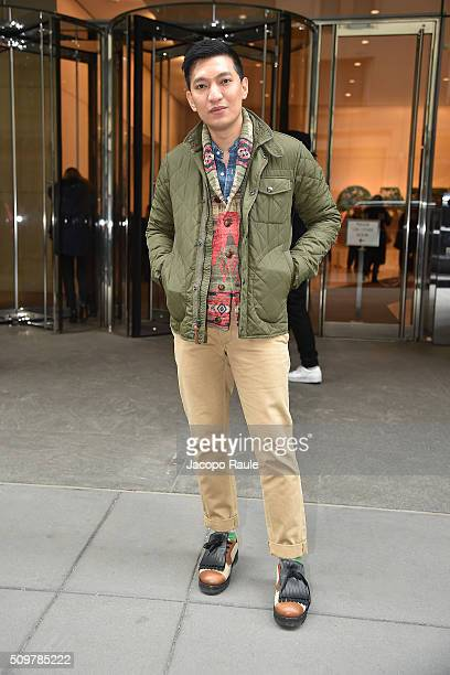 Bryan Boy is seen leaving the Polo Ralph Lauren presentation during Fall 2016 New York Fashion Week on February 12 2016 in New York City