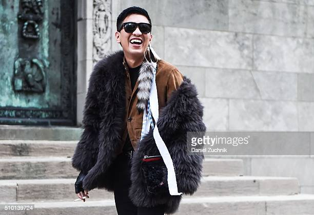 Bryan Boy is seen outside the Alexander Wang show during New York Fashion Week Women's Fall/Winter 2016 on February 13 2016 in New York City