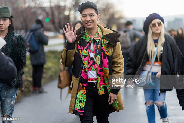 Bryan Boy seen outside Coach during New York Fashion Week: Women's Fall/Winter 2016 on February 16, 2016 in New York City.