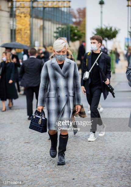 Bryan Boy seen wearing coat, bag Dior outside Dior during Paris Fashion Week - Womenswear Spring Summer 2021 : Day Two on September 29, 2020 in...