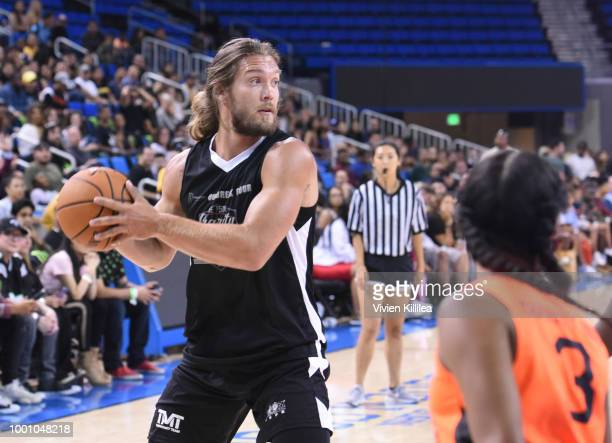 Bryan Braman attends Monster Energy Outbreak Presents $50K Charity Challenge Celebrity Basketball Game at UCLA's Pauley Pavilion on July 17 2018 in...