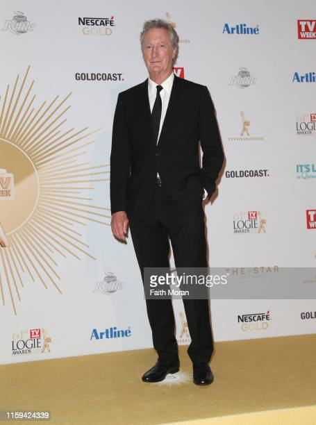 Bryan Brown arrive at the 61st Annual TV WEEK Logie Awards at The Star Gold Coast on June 30 2019 on the Gold Coast Australia