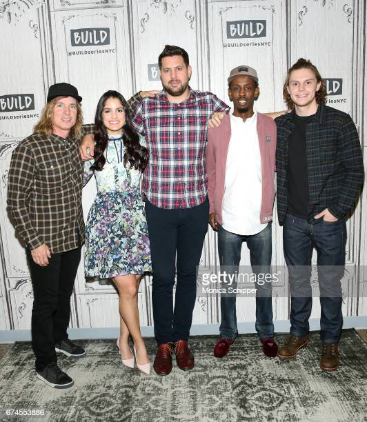Bryan Buckley Kiana Madani Jay Bahadur Barkhad Abdi and Evan Peters attend Build Series Presents Evan Peters Barkhad Abdi Bryan Buckley Jay Bahadur...