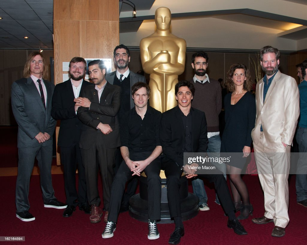 Bryan Buckley, Tom Van Avermaet, Jason Schwartzman, Mino Jarjoura, Shawn Christensen, Yan England, Ariel Nasr, Ellen De Waele and Sam French attend The Academy Of Motion Picture Arts And Sciences Presents Oscar Celebrates: Shorts at AMPAS Samuel Goldwyn Theater on February 19, 2013 in Beverly Hills, California.