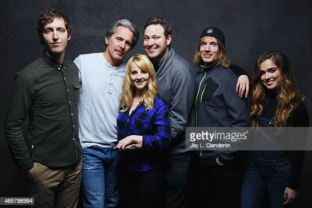 Bryan Buckley, Winston Rauch, Melissa Rauch, Gary Cole, Haley Lu Richardson and Thomas Middleditch from the film 'The Bronze' pose for a portrait for...