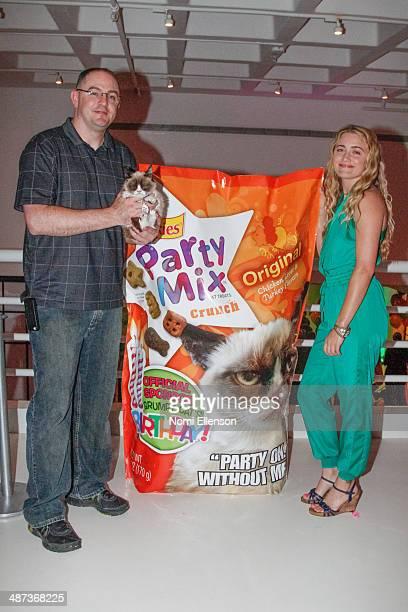 Bryan Bundesen and Tabatha Bundesen attend Grumpy Cat's Grumpiest Birthday Bash at 404 10th Avenue on April 29 2014 in New York City