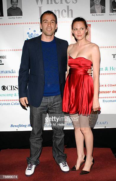 Bryan Callen and Amanda Humphrey attend The Children Affected By Aids Foundation's A Night Of Comedy on April 14 2007 at the Wilshire Theater in...