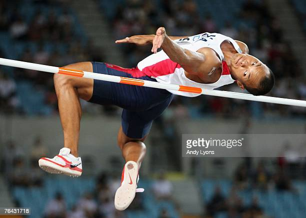 Bryan Clay of the United States of America competes during the High Jump round of the Men's Decathlon on day seven of the 11th IAAF World Athletics...