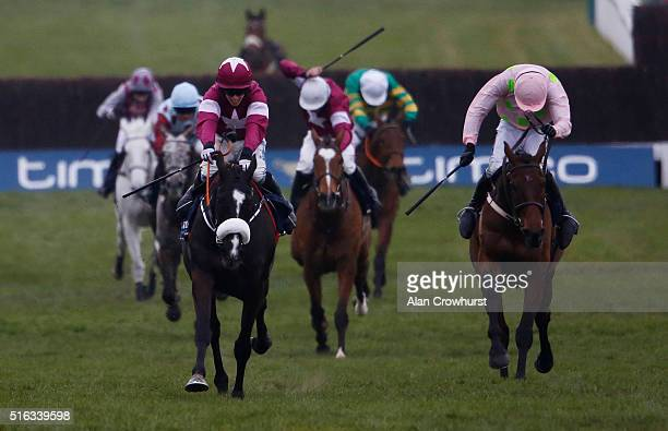 Bryan Cooper riding Don Cossack win The Timico Cheltenham Gold Cup Steeple Chase from Djakadam and Ruby Walsh during the Gold Cup Day of Cheltenham...