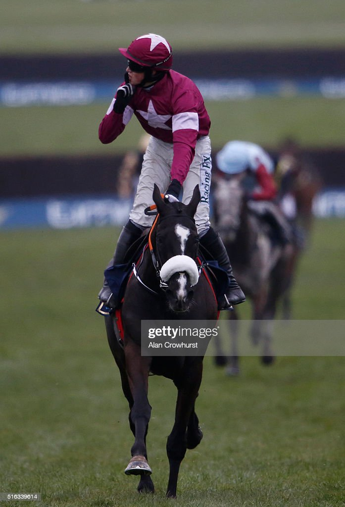 Bryan Cooper riding Don Cossack win The Timico Cheltenham Gold Cup Steeple Chase during the Gold Cup Day of Cheltenham Festival at Cheltenham racecourse on March 18, 2016 in Cheltenham, England.